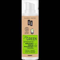 AA GO GREEN Nawilżający Podkład Wygładzający Ciemny Natural z selerem 30 ml