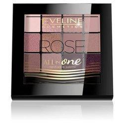 Eveline All InOne paleta cieni do powiek Rose PAL12