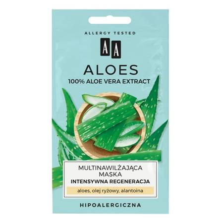 AA ALOES Aloe Vera Maska Intensywna regeneracja 2x4ml