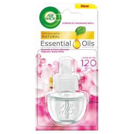 Air Wick Essential Oils magnolia i kwiat wiśni-zapas 19ml