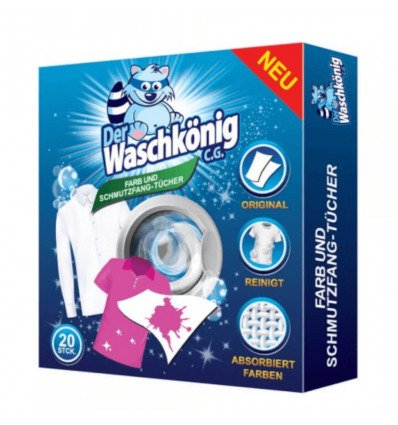 Der Waschkonig Niemieckie chusteczki do prania 20 szt