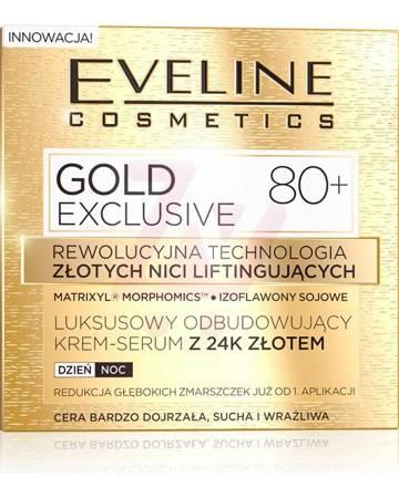 Eveline Gold Lift Expert 80+  Odbudowujący krem 24k złota dzień/noc 50ml